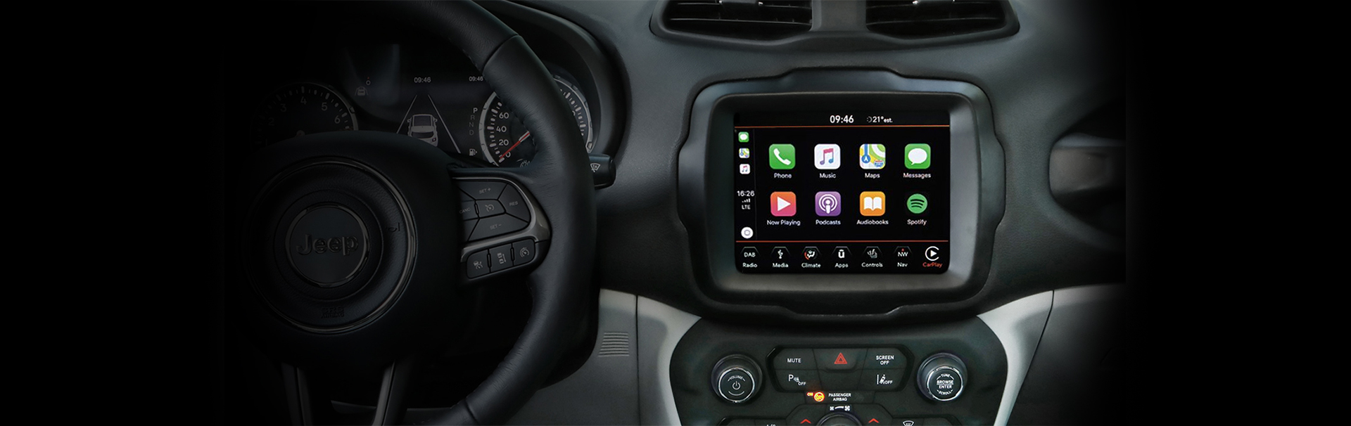 Jeep® Renegade - Technologie - Apple Carplay (tabs)
