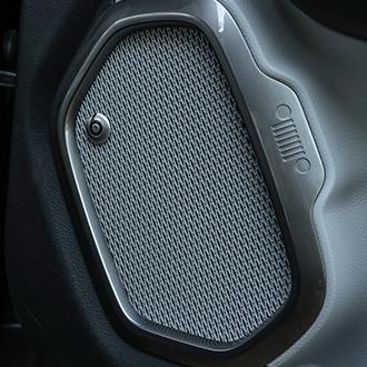 Effet métal autour des haut-parleurs de porte